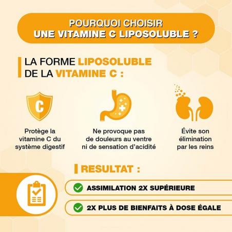 Vitamine C liposoluble Solage deux fois plus de bienfaits sans faire mal à l'estomac
