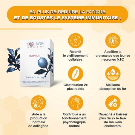 La vitamine C liposoluble Solage contribue à une bonne immunité et baisse de la fatigue